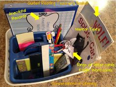 Guided Reading Basket Organization- what to keep in your guided reading teacher's basket