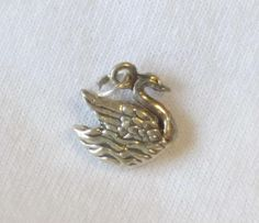 Sterling Silver Swan Charm