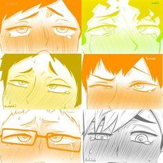 Funny Anime Pics, Cute Anime Guys, Anime Love, Haikyuu Fanart, Haikyuu Anime, Haikyuu Characters, Anime Characters, Face Anime, Walpapers Cute