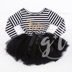 Fifth birthday outfit dress with gold letters by GraceandLucille