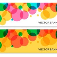 Abstract Colorful Circle Vector Banners Vector Graphic