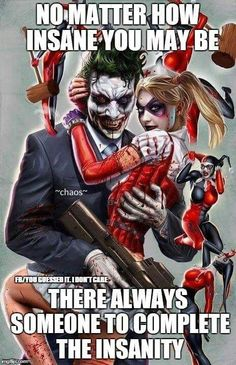 "The Joker and Harley Quinn ""Mad Love"""
