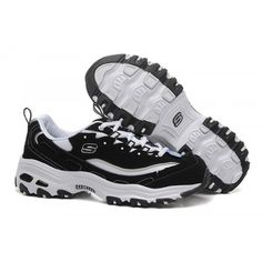 huge discount 2e96c 4900a Skechers D Lite Biggest Fan Mens Running Shoes Black White Cheap Skechers,  Skechers D Lites