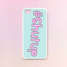 Sweet Shutup printed Rubber Case  iphone 4/4s  iphone by WaraCase, $14.99
