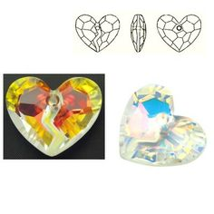 6263 Forever 1 Heart 36mm Crystal AB  Dimensions: 36,0 mm Colour: Crystal AB 1 package = 1 piece
