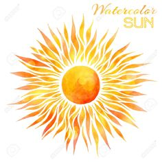 43334118-Watercolor-sun-vector-illustration-Hand-drawn-bright-watercolor-sun-isolated-on-white-background--Stock-Vector.jpg (1300×1300)