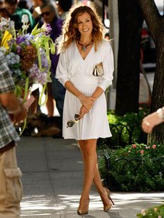 Sarah Jessica Parker as Carrie Bradshaw in Louboutins #SATC #SJP #Shoes