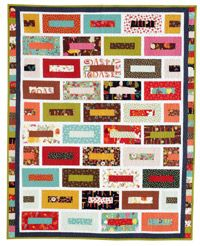 Ever try using every last bit of a jelly roll? This easy quilt pattern, Brick Wall by Joanna Wilczynska is just for you, Quilters Newsletter August/September 2012