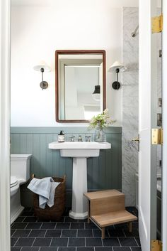 We're sharing the shades, the sheens, and even the color percentages, used in each room! Bad Inspiration, Bathroom Inspiration, Home Decor Inspiration, Decor Ideas, Room Ideas Bedroom, Boys Room Decor, Bedroom Paint Colors, Lounge, Bathroom Renos