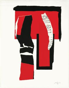 Robert Motherwell, The Red & Black No. 1 on ArtStack #robert-motherwell #art