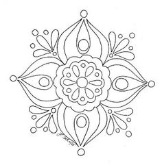 Simple mandala.....could bead embroider it | Craft Projects ...