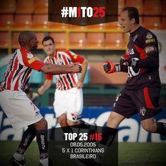 Top #M1TO25: 16º - Rogério Ceni abriu a goleada implacável do Tricolor (via São Paulo FC - Twitter)