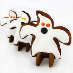 3D Ghost Gingerbread Template Digital PDF File.  FREE PDF DOWNLOAD
