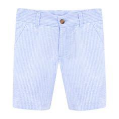 Future Daughter, Cute Girl Outfits, Seersucker, Blue Denim, Classic Style, Knots, Bermuda Shorts, Denim Shorts, Trousers