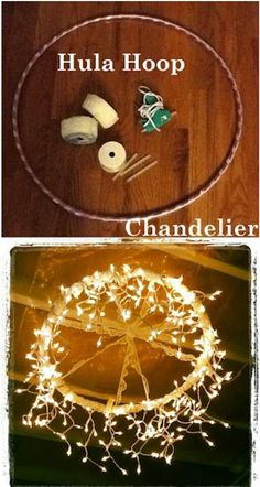 hula hoop chandelier - excellent idea