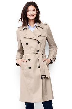 Women's Petite Cotton Trench Coat
