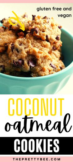 Chewy, chocolatey, and full of coconut flavor, these gluten free cookies are easy to make and simply delicious! Try them this weekend. #glutenfree #recipes #chocolatechip