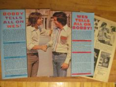 Bobby Sherman, Three Page Vintage Clipping, Wes Stern