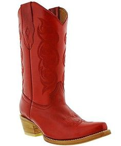 womens-caroline-red-western-leather-cowboy-boots-rodeo-cowgirl-riding-ladies