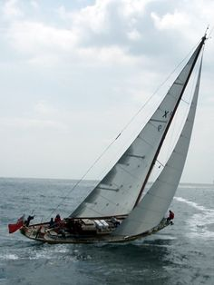 FLAMINGO -  One of the 'windfall yachts' from WWII, run by the British Kiel Yacht Club since 1945.