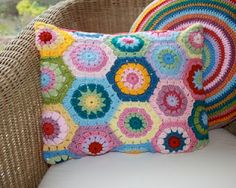 hexagon pillow- reminds me of my childhood:)