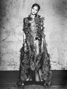 Anna Selezneva | Wearing Armani Privé | Photog: David Bellemere | Vogue (China) Collections April 2015