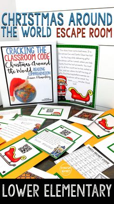 This Christmas around the world escape room is sure to capture the attention of your lower elementary students. Grades 1-2 will find this reading game engaging and fun. Students will learn about different countries, and will be practicing reading comprehension skills. Cracking the Classroom Code™ escape rooms are the perfect way to get kids working in teams, using critical thinking skills, learning, and having fun.
