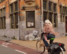 Groningen, Netherlands, is maybe the most bike-friendly city in the world. There are 190,000 people there and 300,000 bikes.