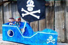 Make your very own diy cardboard ship - harhaaaaar! (the original DIY Pirate ship! Yay)