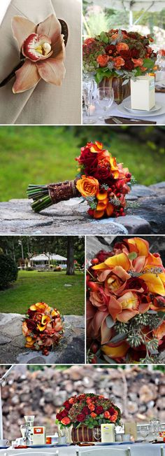 Flowers and colors are amazing for fall wedding