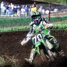 First up is Ricky Carmichael in his rookie year of 1997 running the 70 plate - Unadilla National Motocross Bikes, Vintage Motocross, Ricky Carmichael, Dirt Bike Racing, Off Road Bikes, Dirtbikes, Ol Days, Vintage Bikes, Extreme Sports