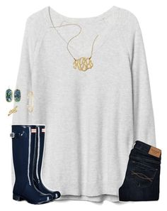 Goodnight world!!  12:00pm by moseleym on Polyvore featuring polyvore, Gap, Abercrombie & Fitch, Hunter, Kendra Scott, Bling Jewelry, fashion, style and clothing