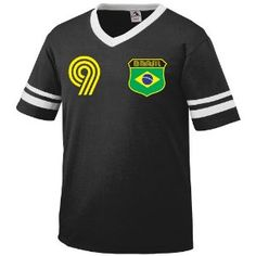 Brazil Retro Soccer Jersey T-Shirt (Apparel)  http://macaronflavors.com/amazonimage.php?p=B001QK9AXQ  B001QK9AXQ