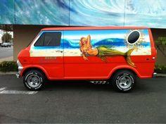 Custom 70s Ford Van