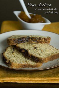 Pan dulce y mermelada de calabaza