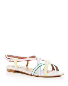 Tabitha Simmons Women's Sarlo Leather Color Block Sandals