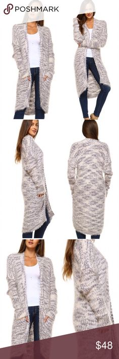 Plush cardigans Fall/winter must have - open plush and fury cardigan sweater in khaki tones. Feels and looks amazing...so soft 55% ramie 45% cotton - Price is firm. Sweaters Cardigans