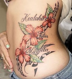 Tattoo Designs For Women | Tattoos for girls : Amazing flower tattoo design ideas
