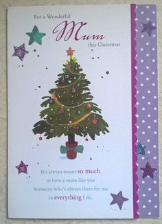 Hallmark christmas card for a very special mummy nice verse multi paper house christmas card for a wonderful mum this christmas multi m4hsunfo