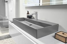 🇩🇪 Villeroy & Boch's Memento 2.0 thin edge basins are now available in beautiful matte finishes including Concrete, Stone White, Ebony and Graphite!