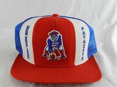 Vintage New England Patriots NFL Trucker Mesh Adjustable Snapback Hat Cap  Nylon  AJD  BaseballCap 0bfd258e80fc
