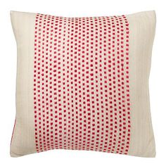 Embroidered Dot Silk Pillow Cover – Begonia #WestElm