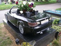 BMW grave stone
