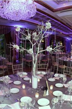 Someday, I'll have a crystal tree centerpiece like this one.