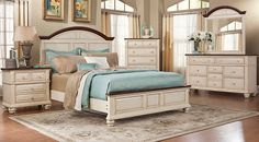 picture of Berkshire Lake White 5 Pc King Panel Bedroom  from  Furniture
