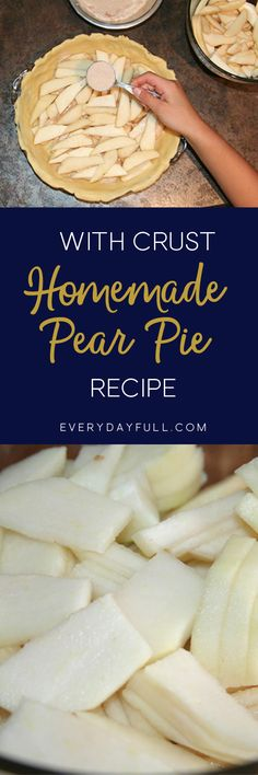 HOMEMADE PEAR PIE RECIPE - This pie will likely take the place of your favorite apple pie, it did ours! Also included is the best homemade pie crust recipe!