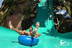 Ride the water slides all day at Bali Waterbom Park Water Bombs, Water Slides, Far Away, Bali, Places, Travel, Viajes, Destinations, Traveling
