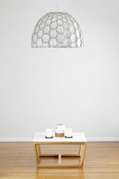 New Light Grey Large Half Nectar Shade Above The Chamfer Table   Designer  Designtree Www.