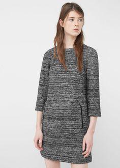 Wool-blend pocket dress - Dresses for Woman | MANGO Denmark