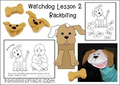 Backbiting - Watchdog Lesson 2 - from www.daniellesplace.com Sunday School Activities, Sunday School Lessons, Bible Lessons For Kids, Bible Crafts, Learning Games, Nursery, Christian, Teaching, Children